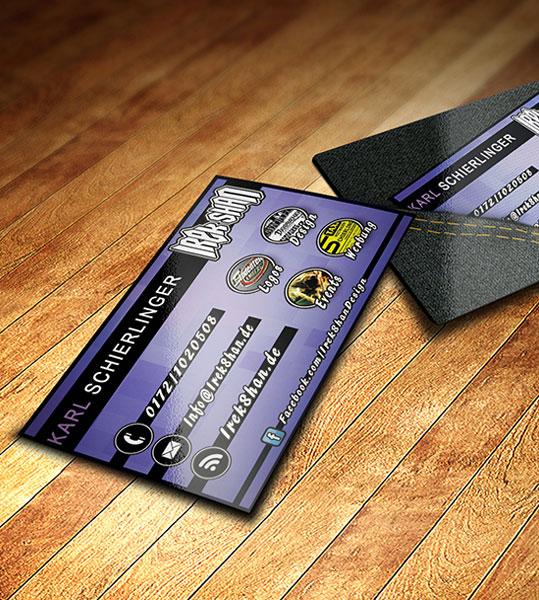 Irek Shan Design Visitenkarten